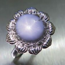 Sapphire Engagement Not Enhanced Sterling Silver Fine Rings