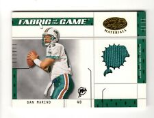 DAN MARINO NFL 2003 LEAF CERTIFIED MATERIALS FABRIC OF THE GAME #/25 (DOLPHINS)