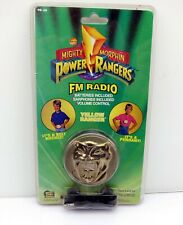 Mighty Morphin Power Rangers FM Radio Belt Buckle Pendant PR-30 Yellow Ranger Go