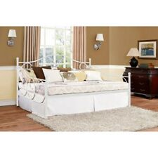 Victoria Metal Daybed Full Size Wrought Iron Pewter Girls Indoor Bedroom Day Bed