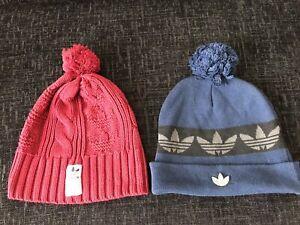 Adidas Original Bobble Hats  x2
