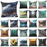 18'' Forest Plant Cotton linen pillow case sofa waist cushion cover Home Decor