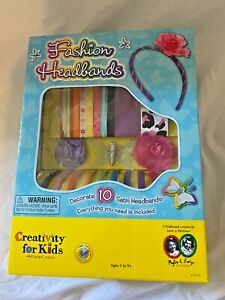 Creativity for Kids Fashion Headbands craft kit head accessories styling bands.