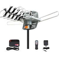 380Miles Outdoor TV Antenna Motorized Amplified HDTV 1080P 4K 36dB 360° Rotation