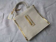NEW with TAG Cream Hessian Gift Bag   Gift?