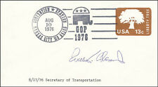 WILLIAM T. COLEMAN JR. - FIRST DAY COVER SIGNED