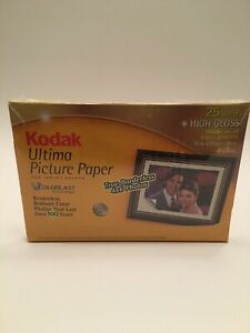Kodak Ultima Picture Paper 4x6 High Gloss 25 Sheets New In Packaging For Inkjet