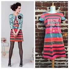 Anthropologie 2 Rare Corey Lynn Calter Sequin Striped Glinted Sunset Shift Dress