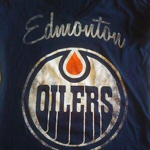 NWT Womens Retro Edmonton Oilers XL Shirt NHL.com Blue