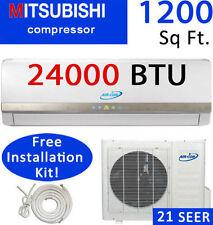 21 SEER 24000 BTU Ductless AC - Mini Split Air Conditioner Heat Pump: 2 TON