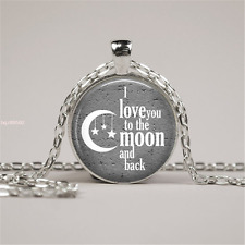 I LOVE You To The MOON And Back Pendant Girls Men And Boys Summer necklace