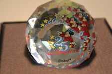 Swarovski Round Disney World 25th Anniversary Paperweight 50Mm Crystal 5237