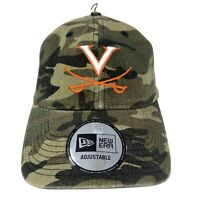 New Era VIRGINIA CAVALIERS Adjustable Camouflaged Strapback Hat Cap NWT