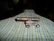Vintage BRONZE TONE CANNON Pencil Sharpener CUTE !