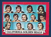 CALIFORNIA GOLDEN SEALS TEAM 73-74 O-PEE-CHEE 1973-74 NO 95 EX+ DARK BACK  9620