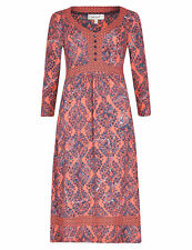 New ex Marks & Spencer Per Una Red Paisley Print Belted Dress Size 12