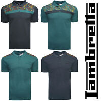 Lambretta Polo Paisley Shirt T-Shirt Tee Short Sleeve Mens Retro Cotton UK S-4XL
