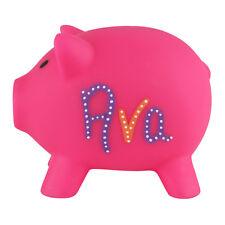 Personalised PIGGY BANK Custom Money Box Pot Savings Fund Coins Hand Drawn UK