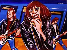 THE RAMONES PRINT poster weird tales cd road to ruin joey johnny mosrite guitar