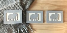 Elephant Nursery Signs (set of three wooden signs)