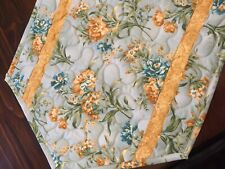 New listing Handcrafted-Quilted Table Runner - Spring is Here - Blue, Gold, Cream Floral