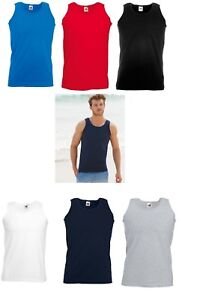 5 Or 3 Packs Fruit of The Loom 100% Cotton* Valueweight Athletic Vest Sleeveless