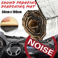 50x10CM Auto Sound Schutz Dämpfend Matte Vibration Wärmedämmung Aluminium Folie