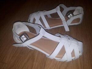 Girls NEXT Sandals - White- Size 1 UK KIDS