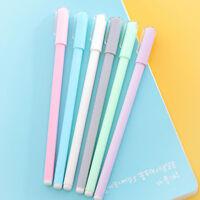 2pcs creative stationery student cute gel pen 0.5mm full needle black ink pensDS