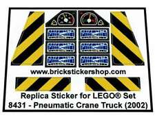 Precut Replica Sticker for Lego® Technic set 8431 - Pneumatic Crane Truck
