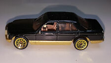 Hot Wheels MERCEDES 380 SEL  / 1998 Hot Ones / Black w/Gold Accents / German Car