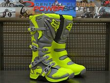 Fox Racing Adult Grey Yellow Comp 5 Dirt Bike Boots Motocross MX 2017 SIZE 10