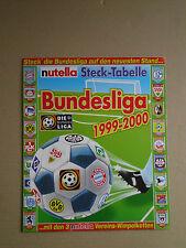 KINDER FERRERO NUTELLA STECKTABELLE BUNDESLIGA 1999-2000 HSV BVB BAYERN MÜNCHEN
