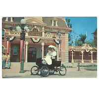 Disneyland Vintage Unused Postcard 1955 City Hall and Motorized Car P12286