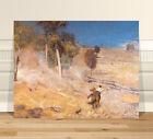 "Classic Australian Fine Art ~ CANVAS PRINT 36x24"" A Break Away by Tom Roberts"