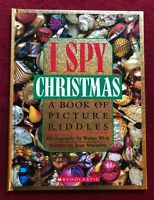 I Spy Christmas: A Book of Picture Riddles Hardcover