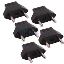 5PCS Universal US USA To Euro EU Travel Power Adapter Converter 2Pin Plug Outlet