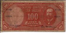 Chile 100 pesos 1960 billete Arturo Prat - 1960/61 billete