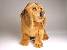 Bloodhound Puppy by Piutre, Hand Made in Italy, Plush Stuffed Animal NWT