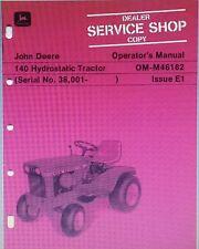 John Deere 140 Lawn Garden Tractor & 41 & 48 Mowers Operators (2 Manuals) 56pg