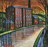 Nostalgic James Downie Original Oil Painting - The Old Mill (Northern Art)