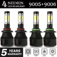 4-Side 9005 9006 Combo LED Headlight Kit High Low Beam Bulb 6000K 4800W 720000LM