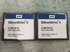 lot of 2* WD SiliconDrive II 2GB PATA SSD-C02G-4500 CF Compact Flash Memory Card