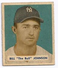 1949 BOWMAN BASEBALL BILL JOHNSON BASEBALL CARD NEW YORK YANKEES # 129