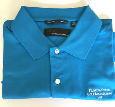 Greg Norman Mens XL/TG Blue Golf Shirt Logo