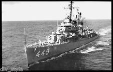 USS Fletcher DD-445 postcard US Navy Destroyer