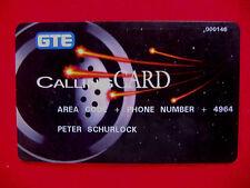 USA GTE CALLING CARD ~ PRIVATE PHONE CARD ~ TELEPHONE LOGO ~ No. 000146