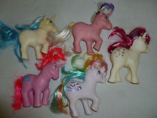VINTAGE G1 MY LITTLE UNICORN PONY LOT MOONDANCER MAJESTY WINDY TWILIGHT TABBY >>