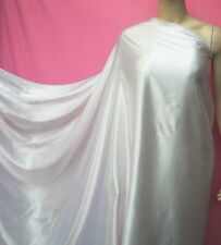 ECO,OFF White Pure Silk Charmeuse Dress Fabric by the Yard Plain Crepe Back