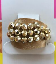 Vintage Hair Accessories - Gold Beaded Ponytail Holder